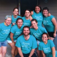 Social Work Club volunteers for Habitat for Humanity.