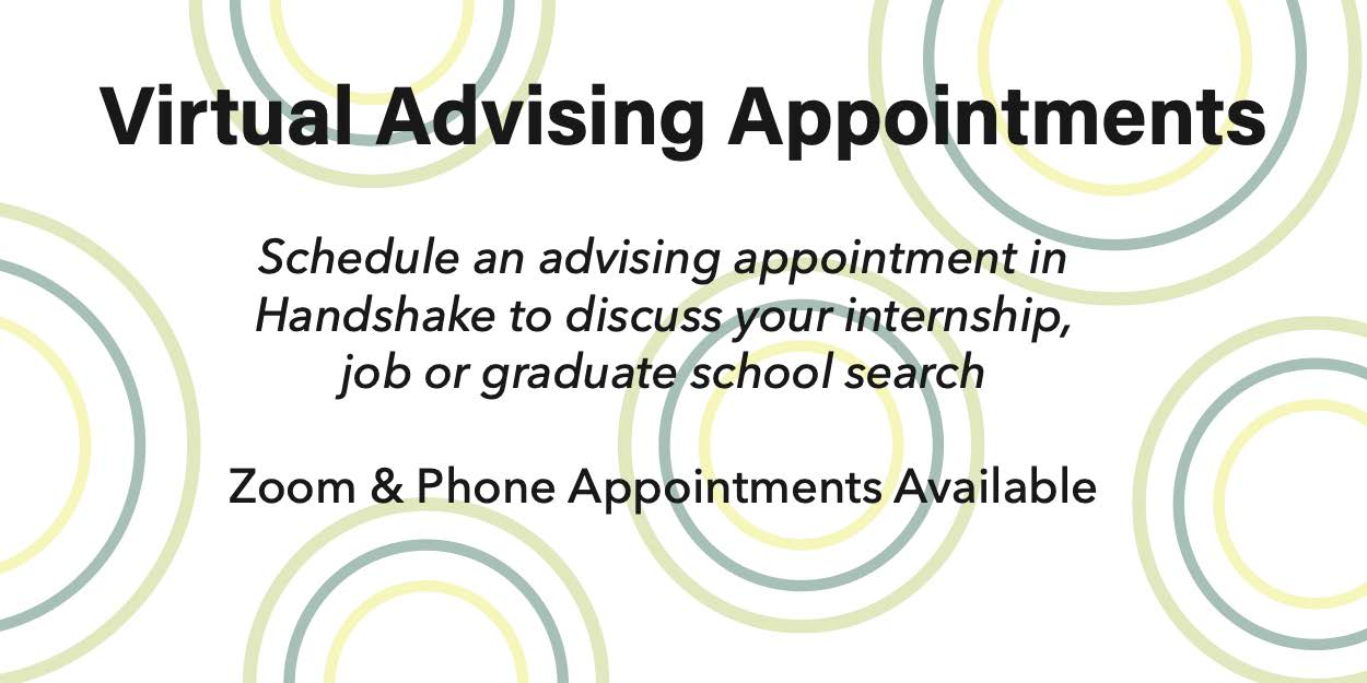 Virtual Advising Appointments Banner