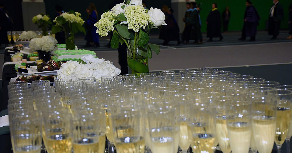 Graduate Commencement Champagne Reception, ALLWell North Field House