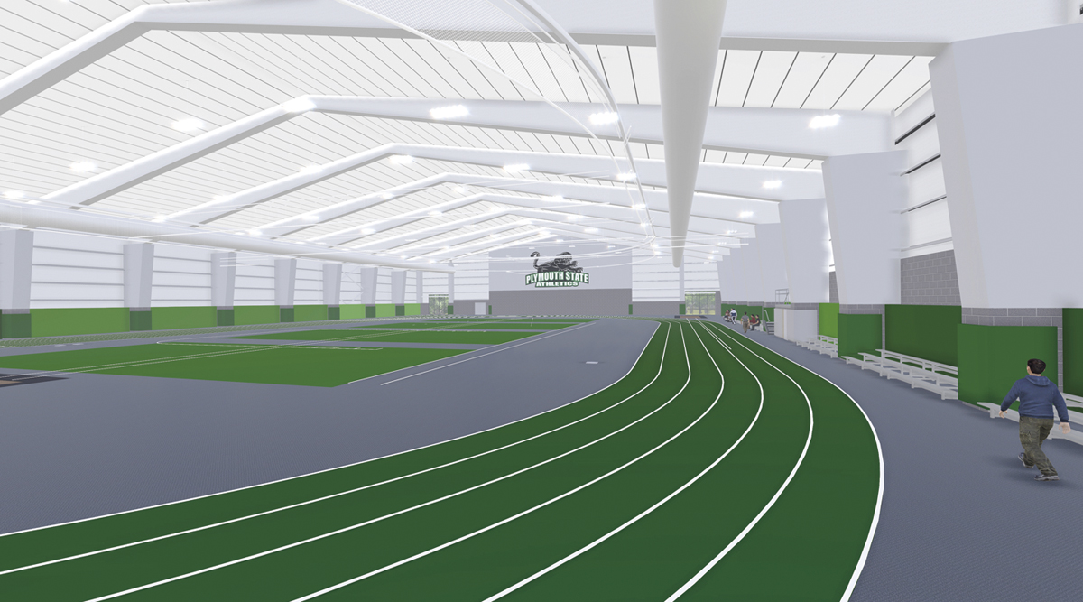 Architectural rendering of the George E. Davis '63 Track. Sasaki Associates