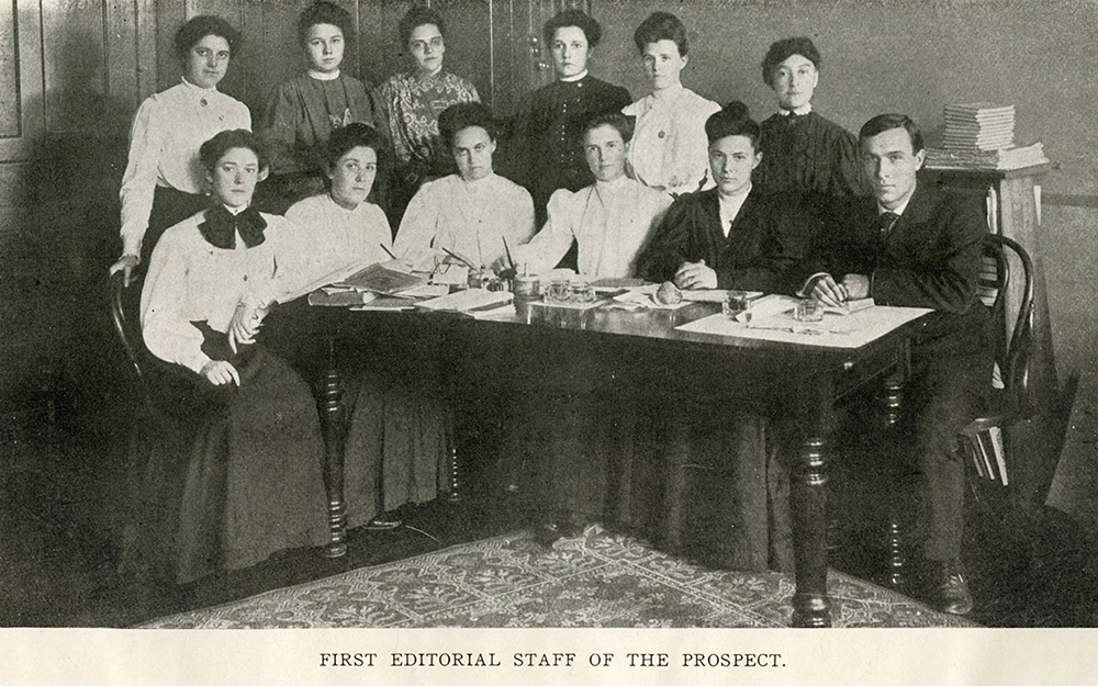First editorial staff of the Prospect, 1905.