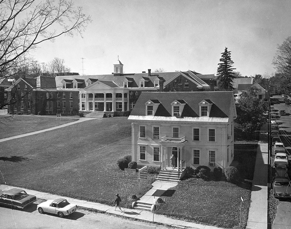 Photo of Mary Lyon Hall, 1970.