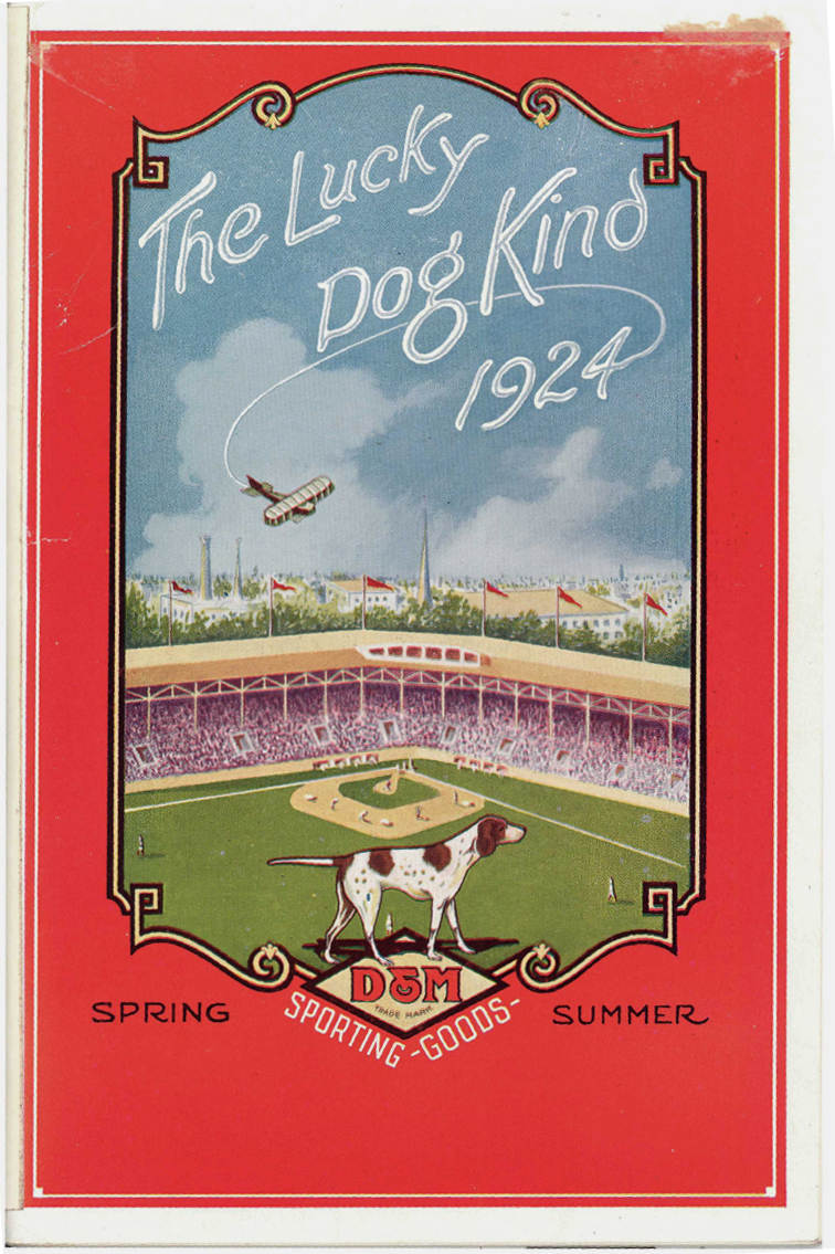 Cover of the Draper and Maynard Sporting Goods spring-summer catalog, 1924.