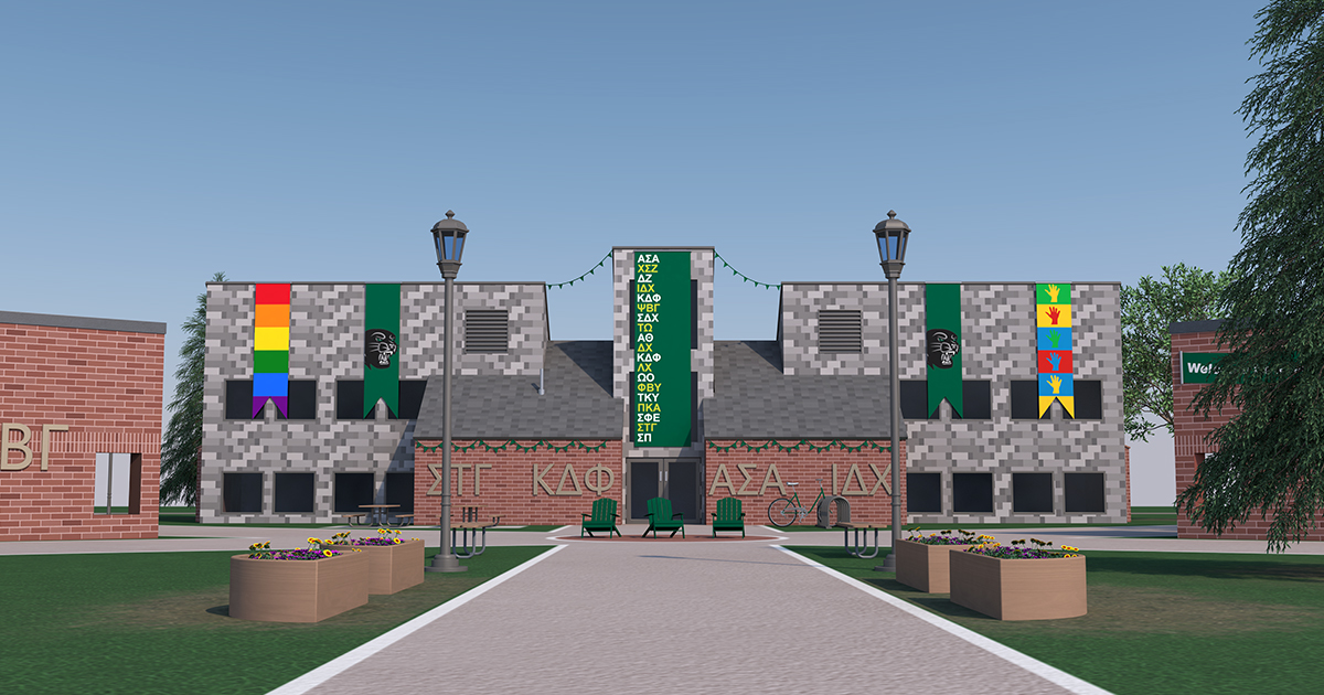 Greek Campus Rendering from Front