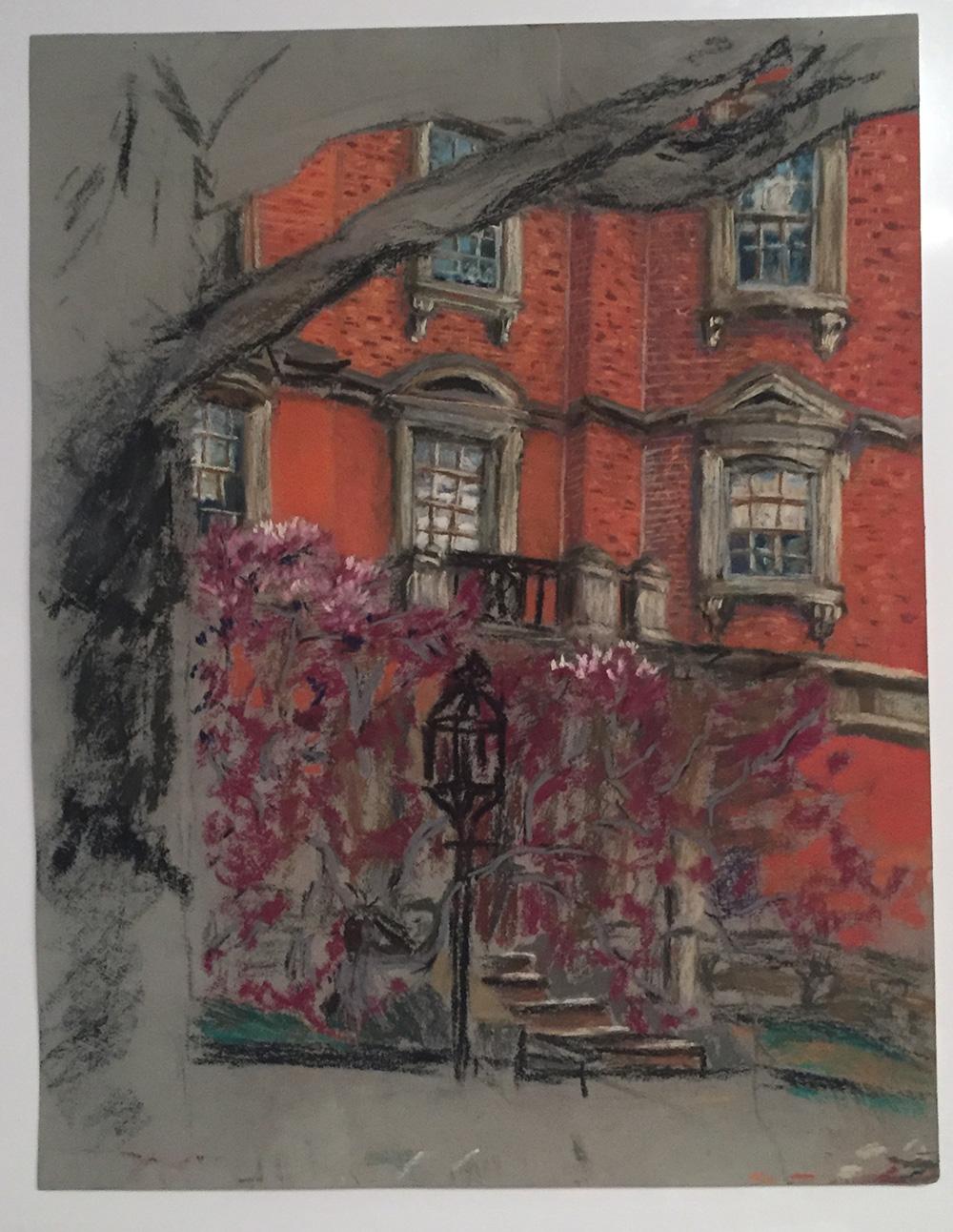 """""""Beacon Street in Spring"""" Althea"""