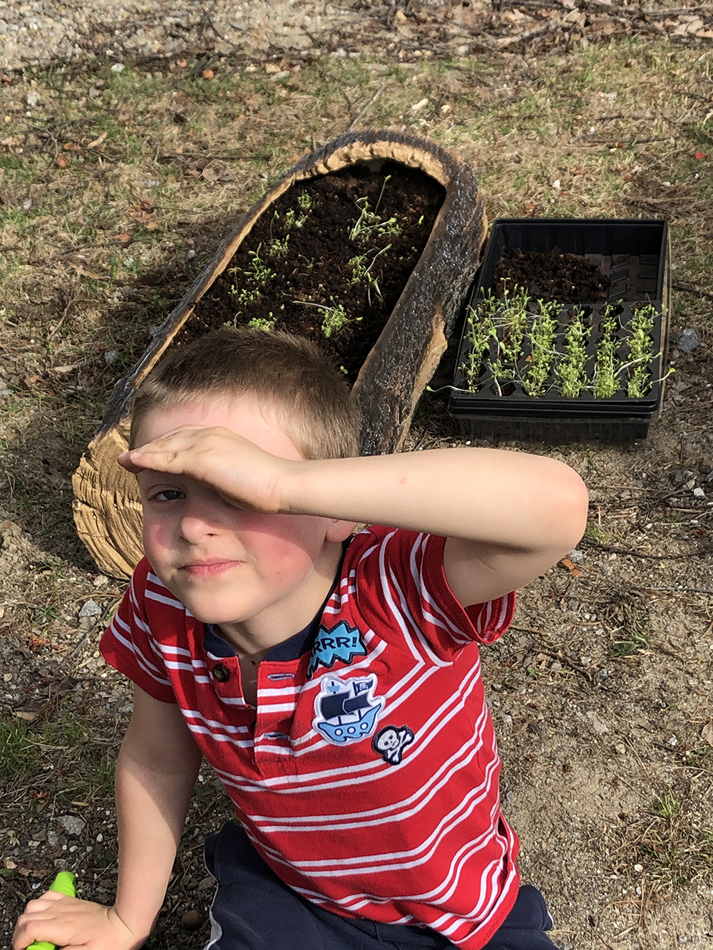 """Planting Wildflowers with Mom"" Dylan"