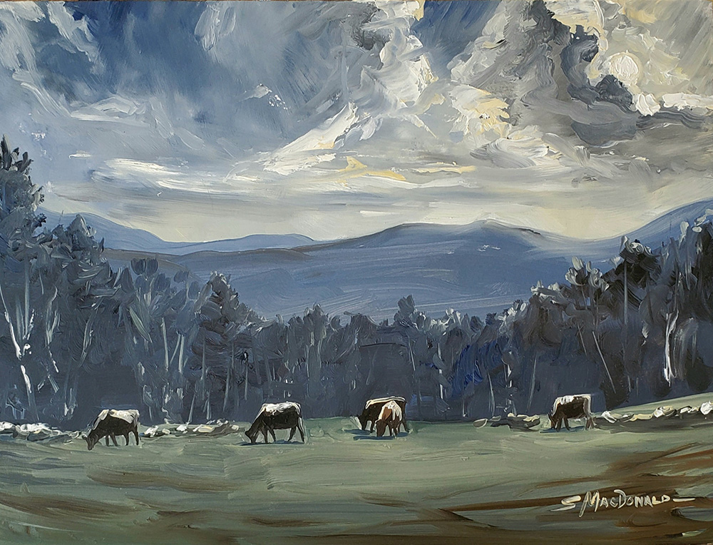 """cows in the moonlight"" Susan"