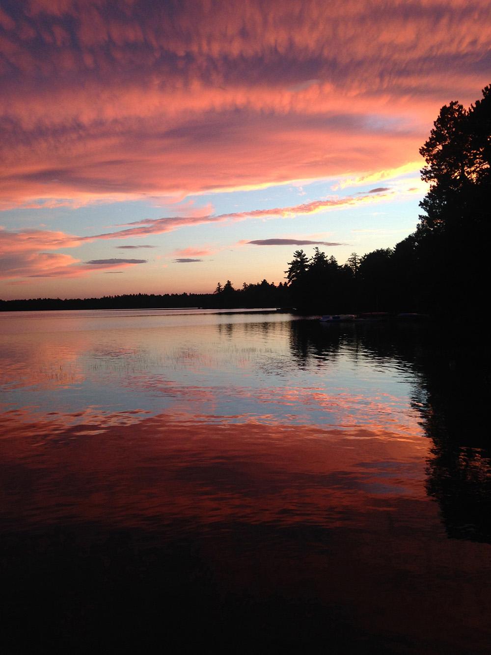 """Little Lake Sunapee Sunset"" Elizabeth"