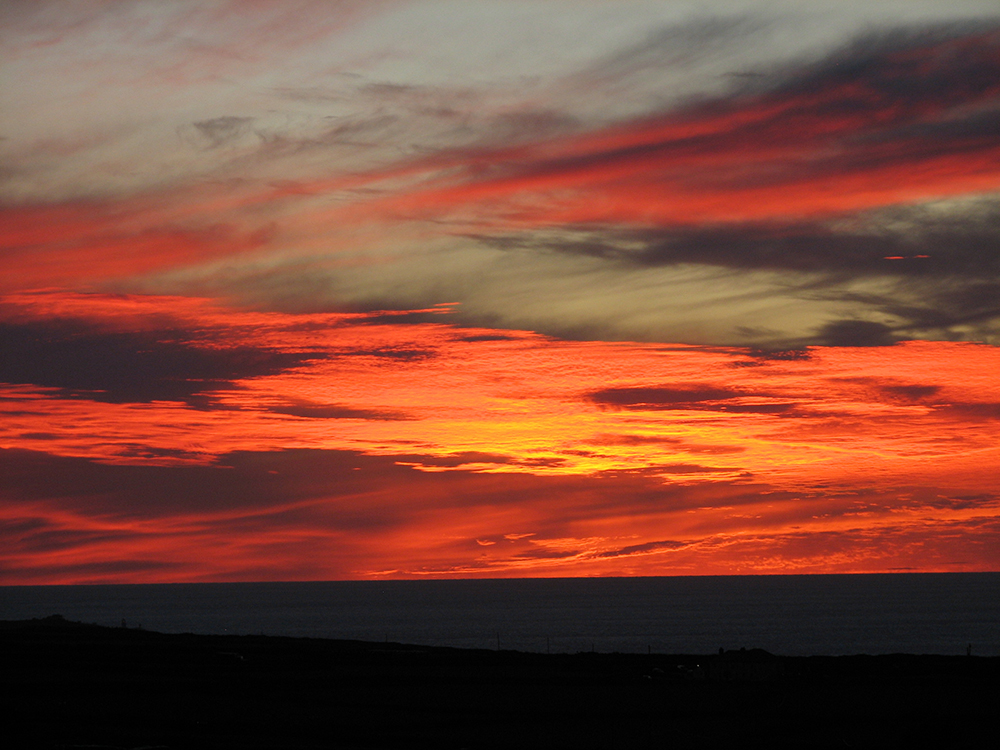 """Sunset over the Atlantic Ocean, Cornwall, England"" – 2010 Woody"