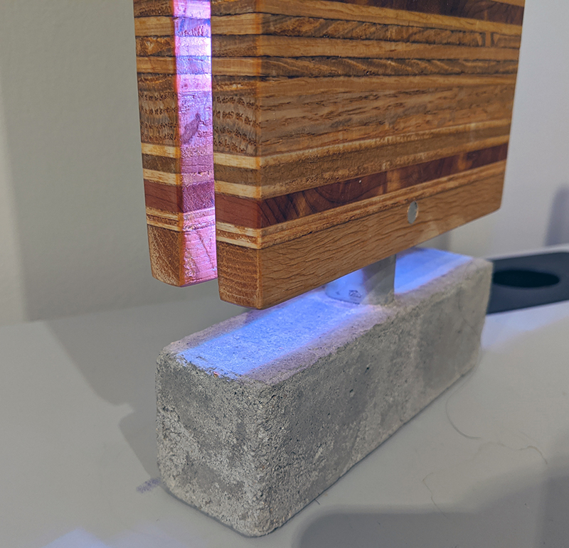 Kim Jong-Yoon, Desktop Accessories (Detail), Wood, Concrete, Mixed Media, 2019