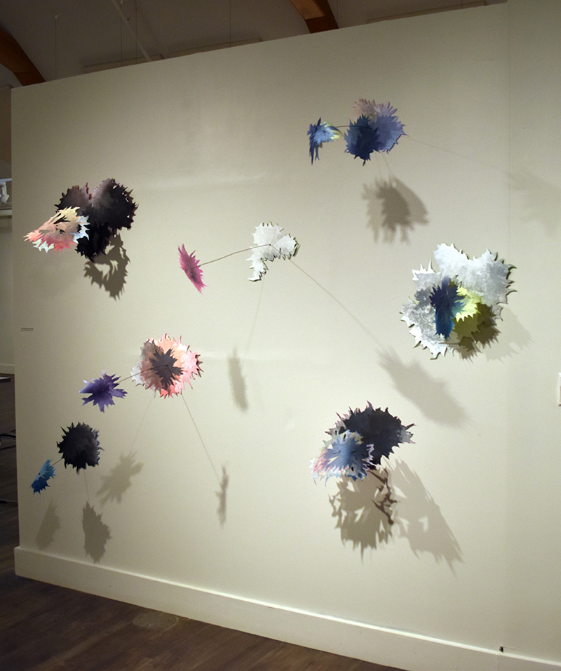 Kimberly Ritchie, Undiscovered Species: Extrude. Cut relief rolled collagraphs, wire. 2020.