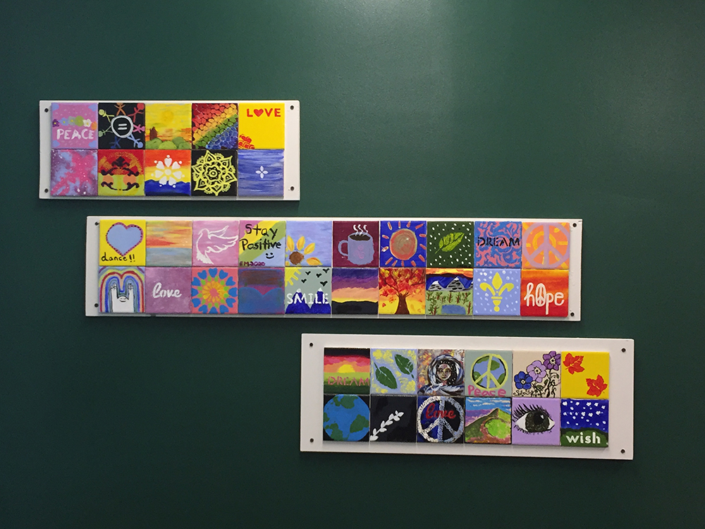 Peace Tiles in Office of Community Impact