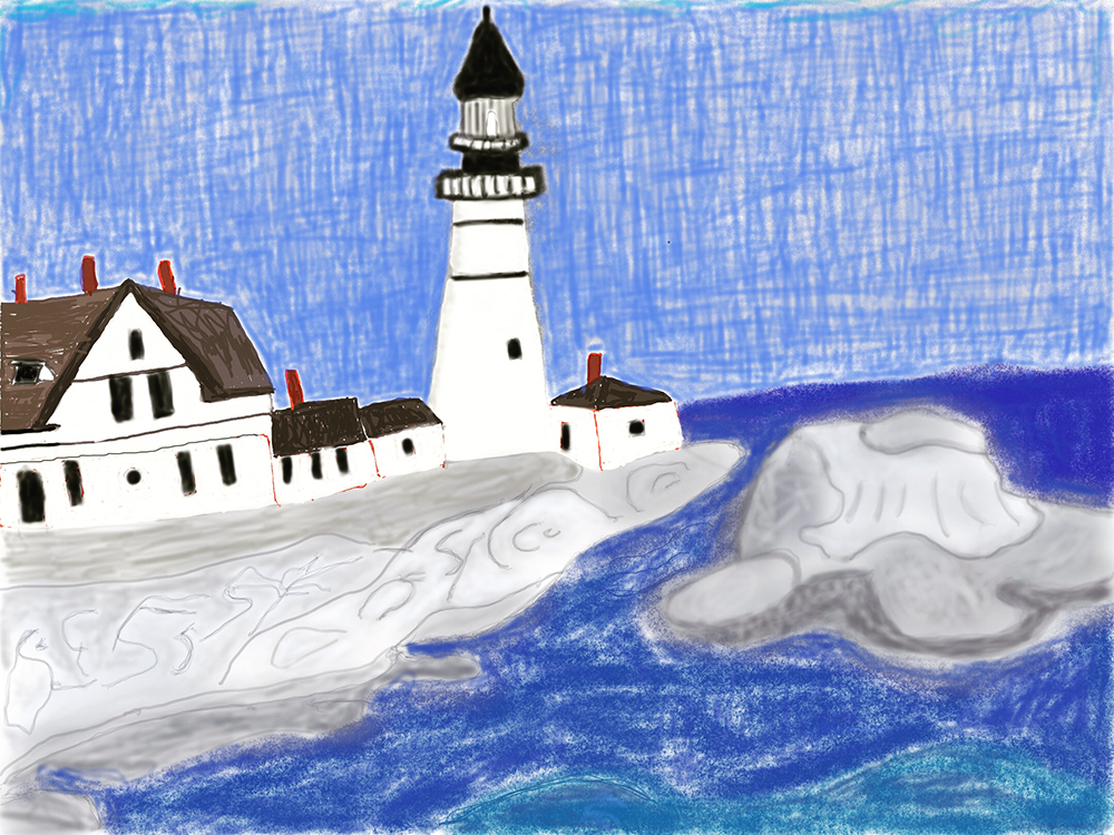 """Portland Headlight Cape Elizabeth Maine"" Wendy"