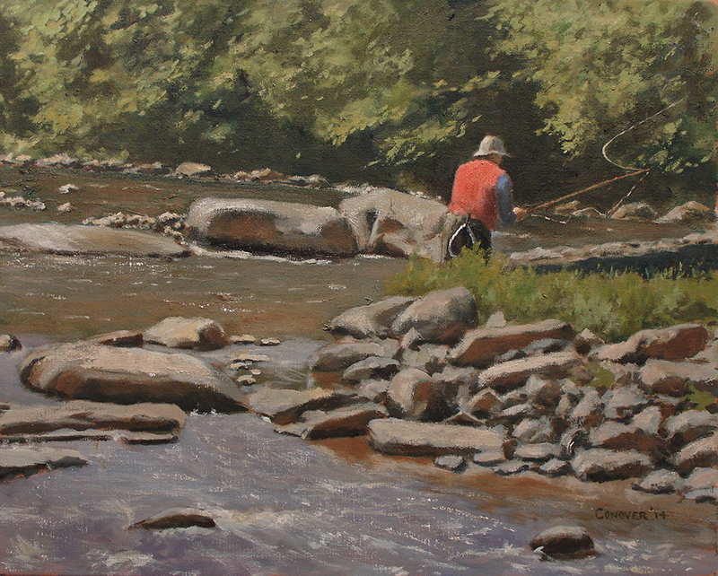 """Springtime Fishing on the Beaverkill"" Woolsey"
