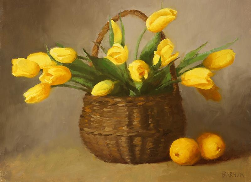 """Yellow Tulips in a Basket"" Joan"