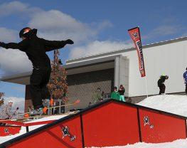 Rail Jam skier