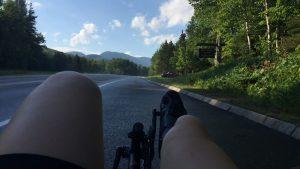 riding bike downhill
