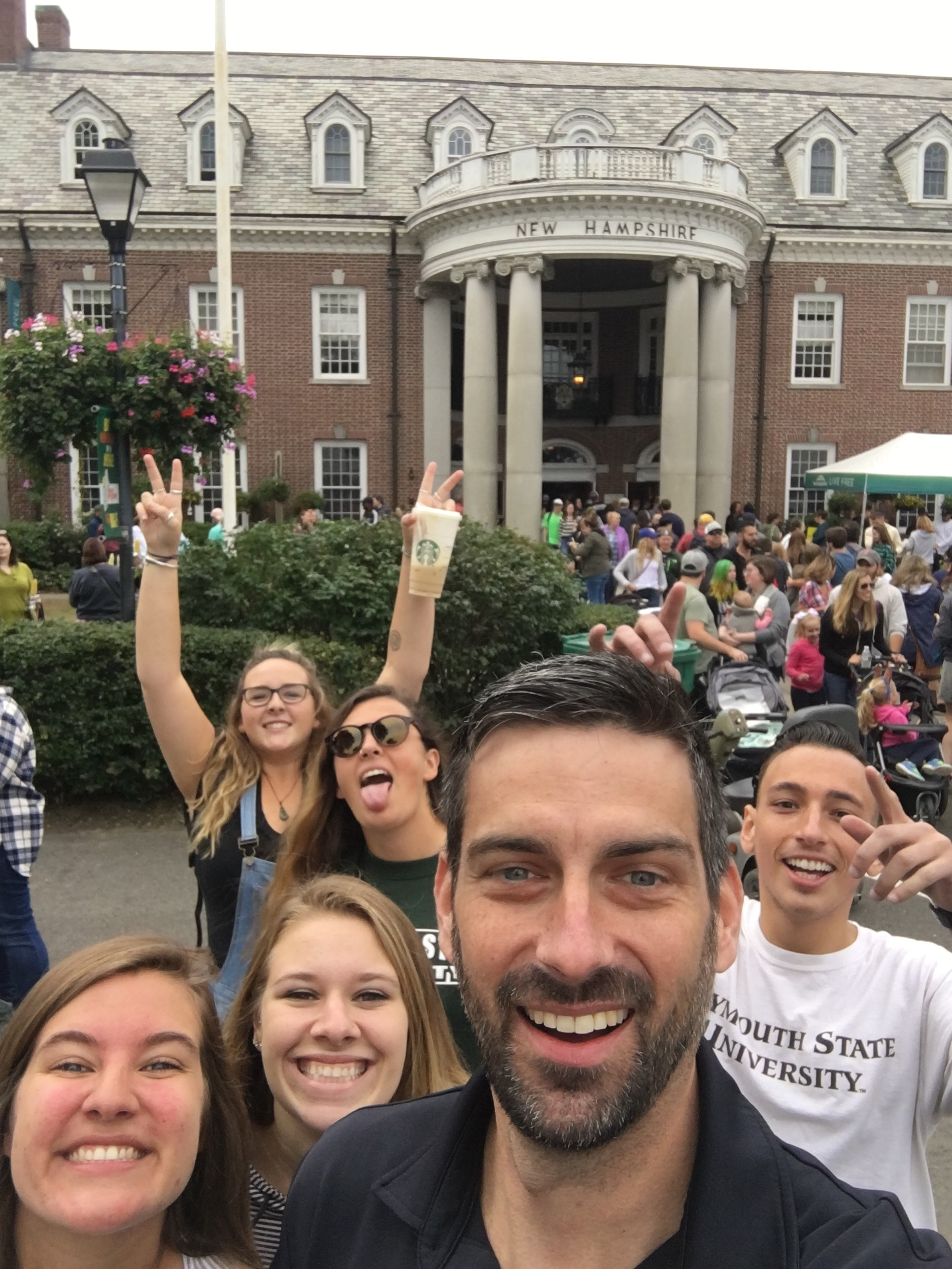 Five Tourism Management and Policy students and Professor Adam Keul volunteered at the Big E fair in Springfield, MA.