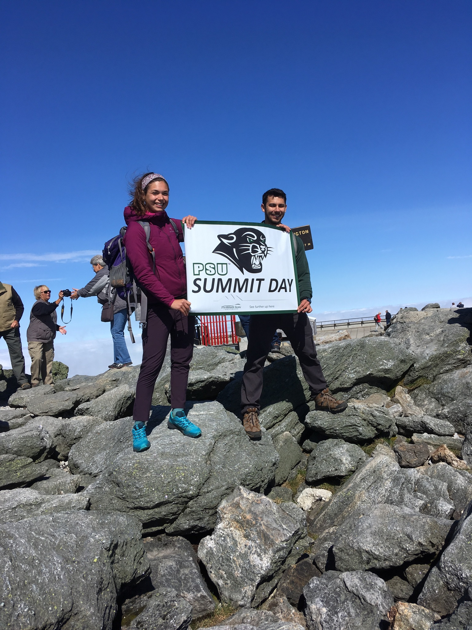 Summit Day participants on the top of Mt. Washington.