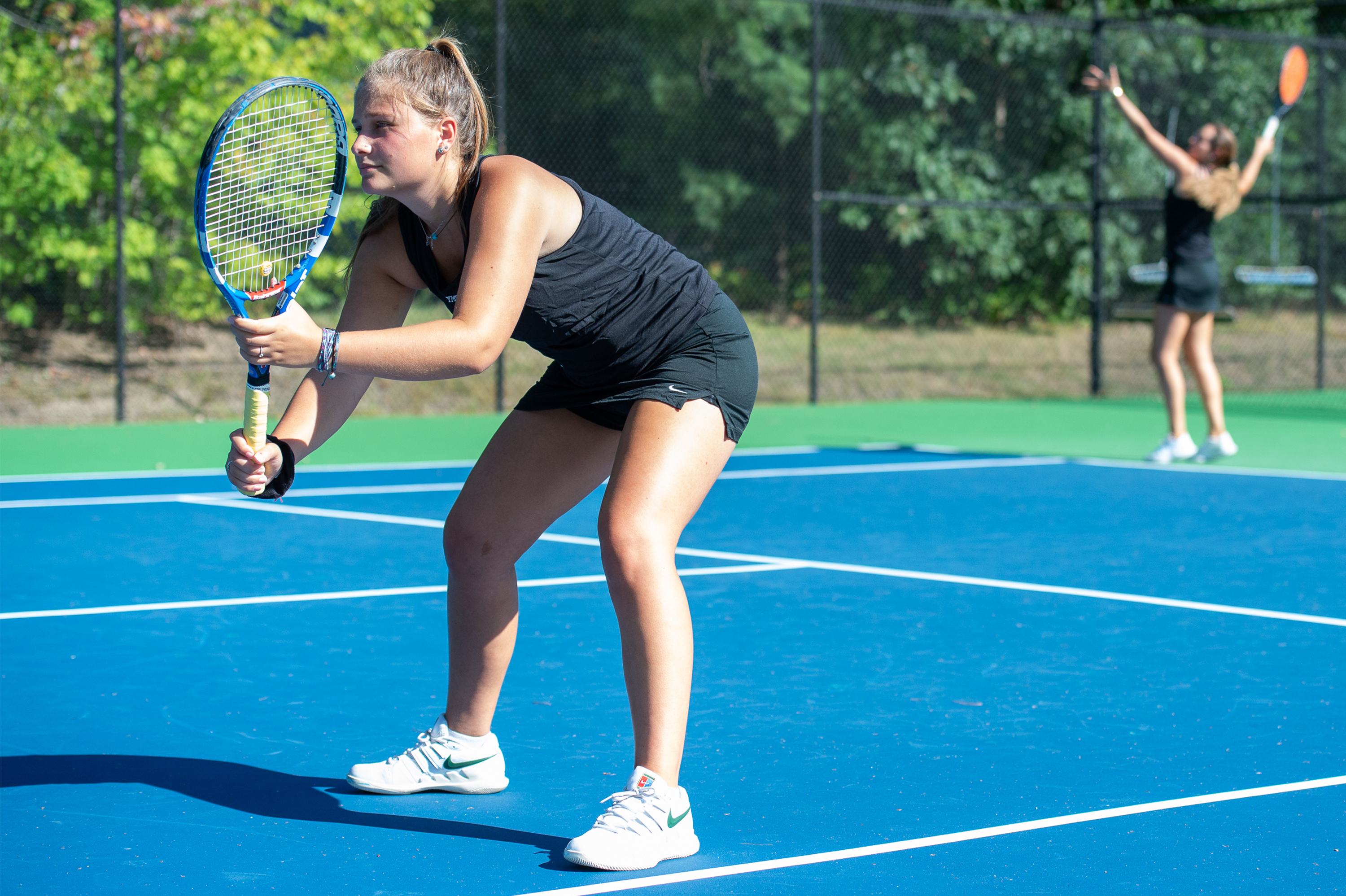 Maggie McCarthy was voted All-LEC First Team Doubles after a strong tennis season.