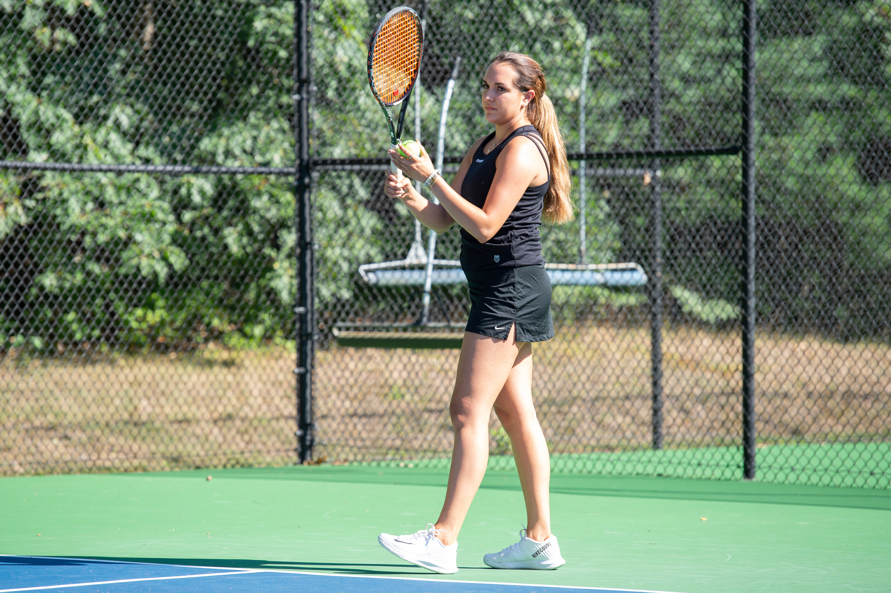 Women's tennis star Sage Winter was named All-LEC First Team in both singles and doubles play after leading PSU to the LEC championship match.