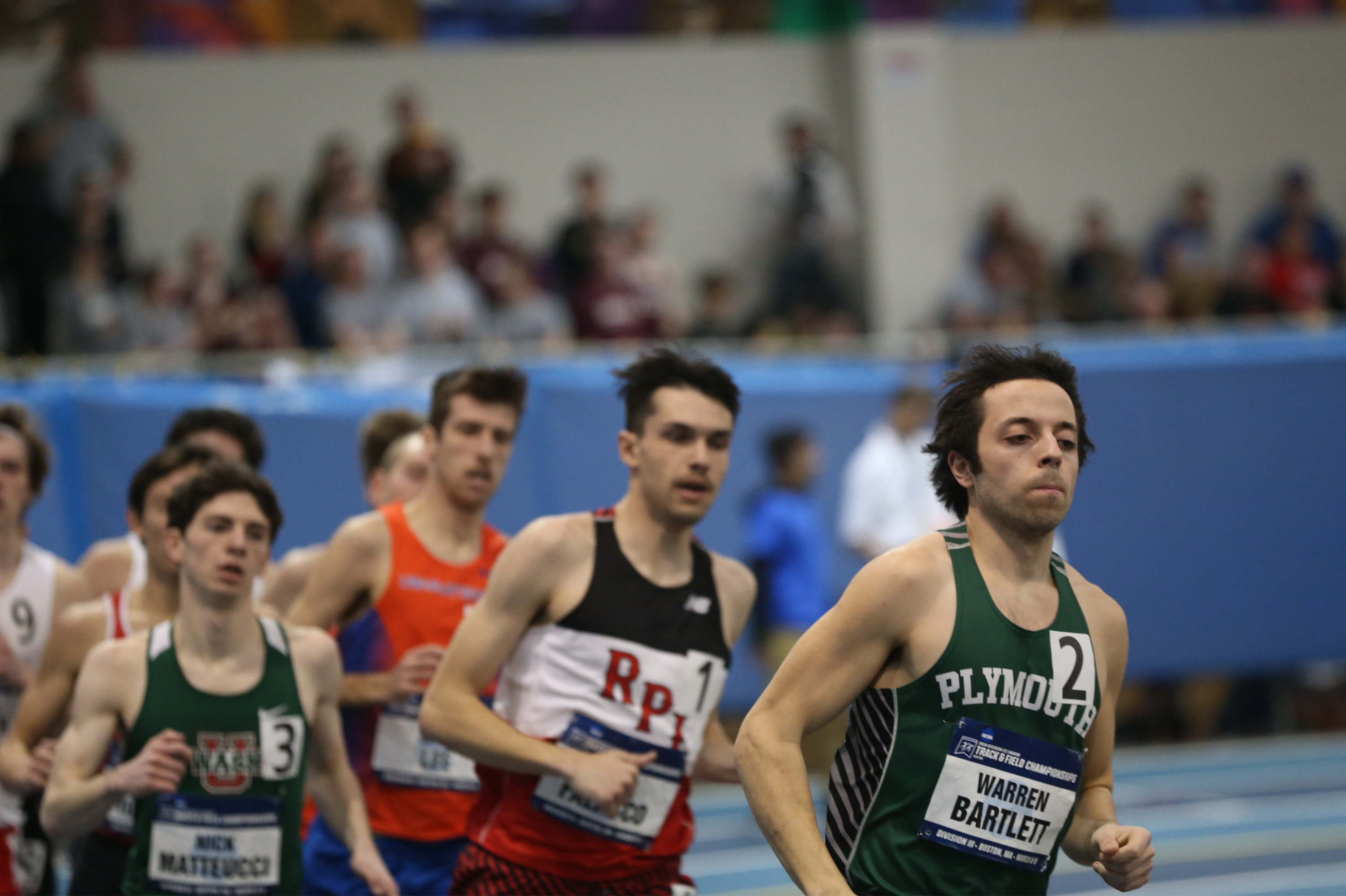 Warren Bartlett has many school records and claimed a fourth-straight LEC title in the 1,000m run while claiming All-America status in the mile run.