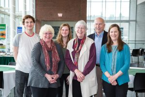 Shaughn Bolton (second from left) with her family at the Environmental Science and Policy awards night in May: nephew and Godson Will Bolton '17, niece Lauren Bolton, sister Lynore Bolton, brother William Bolton, and sister-in-law Denise Bolton. Not pictured: brother Peter Bolton and sister-in-law Susan Bolton.