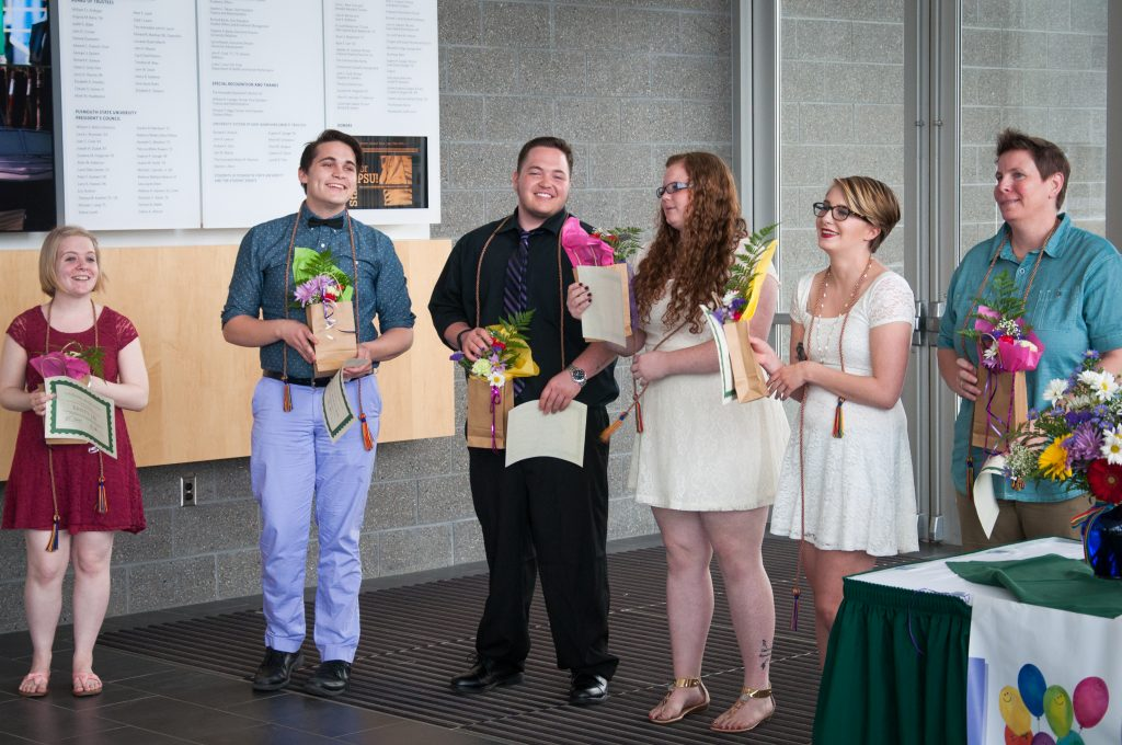 Lavender Graduation recognizes the achievements and contributions of lesbian, gay, bisexual, transgender and queer (LGBTQ) graduating seniors, graduate students and allies. Nina Weinstein '15 photo.