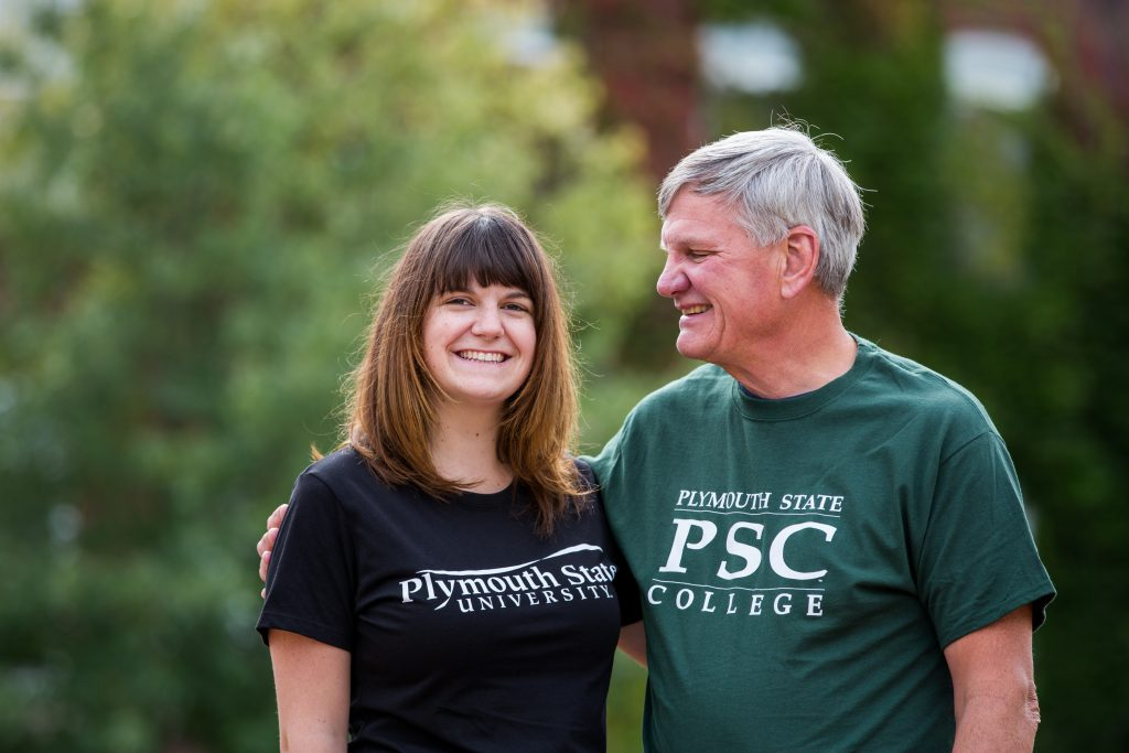 Ellen '16 and Steve MacDonald '79. Kaleb Hart '11 photo.