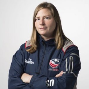 Nicole Titmas '06G, Athletic Trainer, US Women's Rugby Team. Courtesy of USA Rugby.